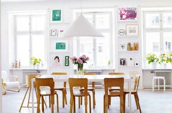 Inspiração para decorar ambientes só com a cor branca #jantar   bit.ly/Ip3pPy