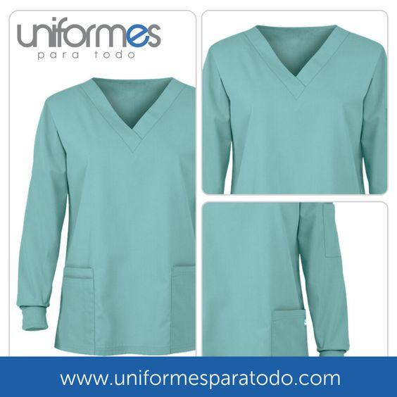 Contamos con #uniformes de manga larga, que te brindan protección y seguridad en todos tus procedimientos  #UniformesparaTodo #Colombia #Medicos #Hospitales #Consultorios  www.uniformesparatodo.com