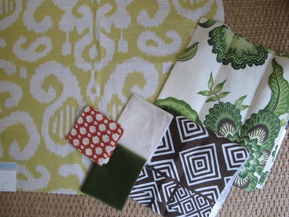 There's something in,Ike about these fabrics together and think your palm painting might work well with this