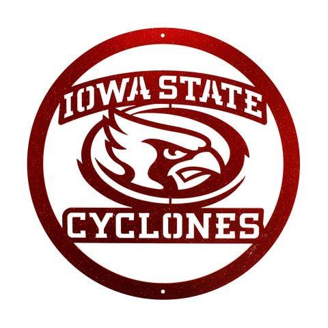 Iowa State Cyclones Collegiate Logo Metal Wall Art Decor With