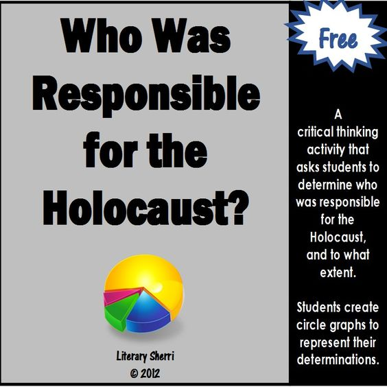 who is responsible for the holocaust essay Free holocaust papers, essays, and research papers my account search results free essays good essays better essays stronger adolf hitler, the leader of the nazi party and was held most responsible for this terrible genocide.