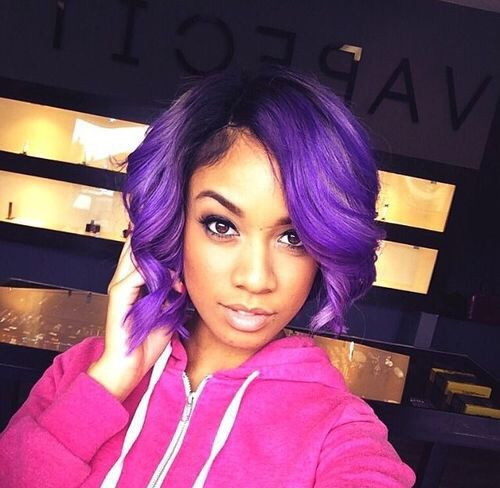 Brilliant Colored Hair Purple Ombre And African Americans On Pinterest Short Hairstyles For Black Women Fulllsitofus