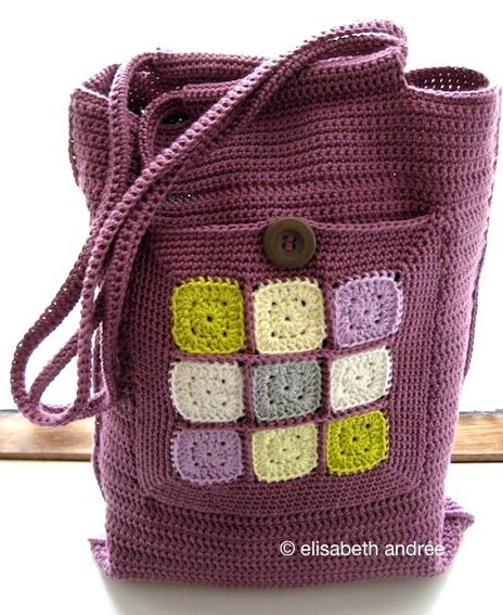 Crochet Bag With Pockets Pattern : Squares, Pockets and Crochet on Pinterest