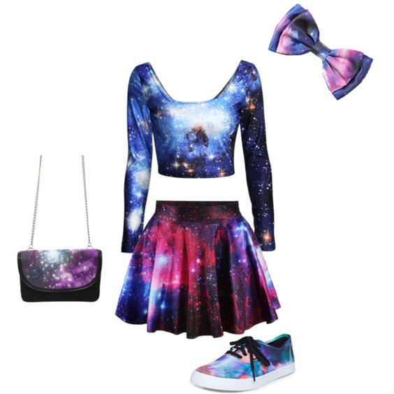 Galaxies Van And Polyvore On Pinterest