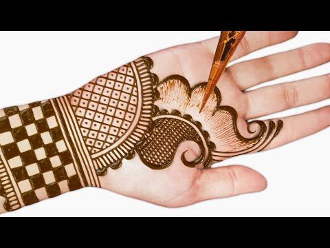 mehndi design easy and beautiful images front hand simple