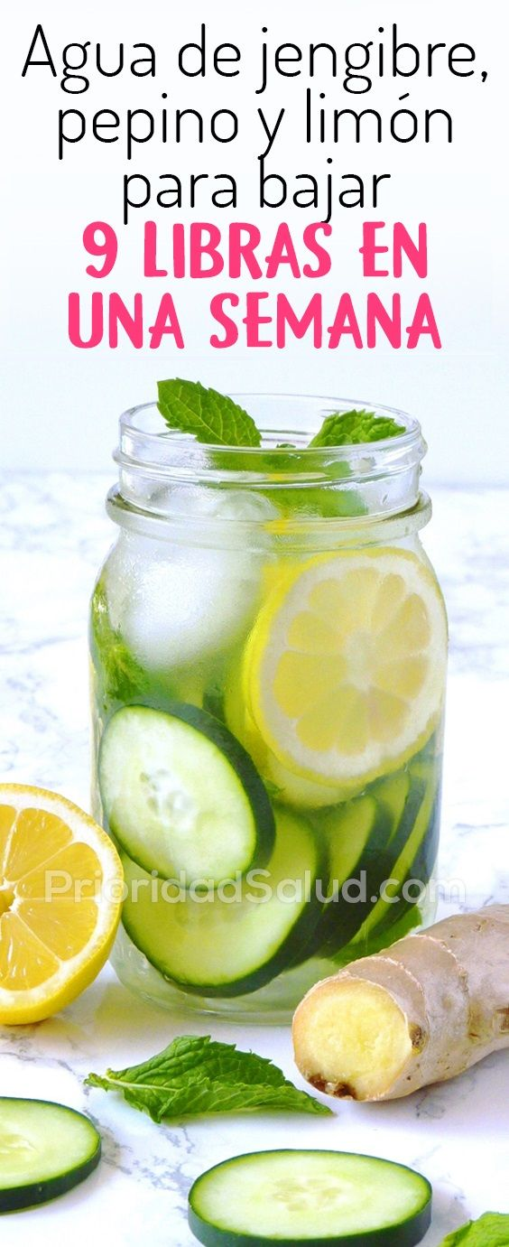 como bajar de peso con jengibre y limon en una semana