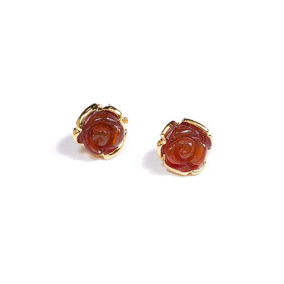 JANNA CONNER 6280E Carnelian Selda Rosette Earrings — #jannaconner