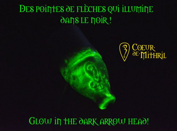 5 white glow in the dark larp arrows by CoeurdeMithril on Etsy