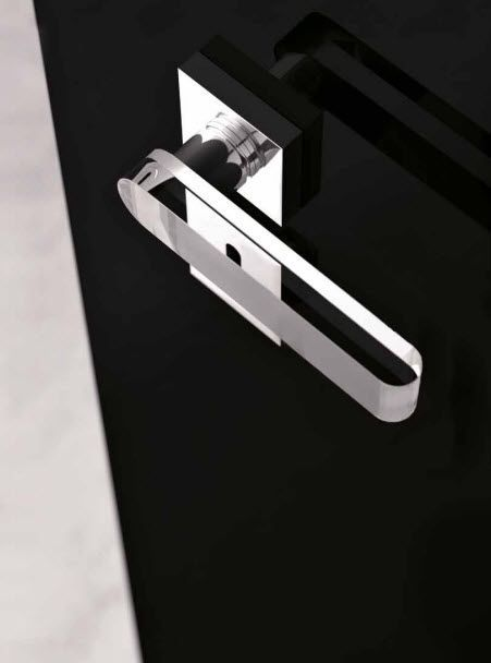 poign e de porte en cristal contemporaine round home. Black Bedroom Furniture Sets. Home Design Ideas