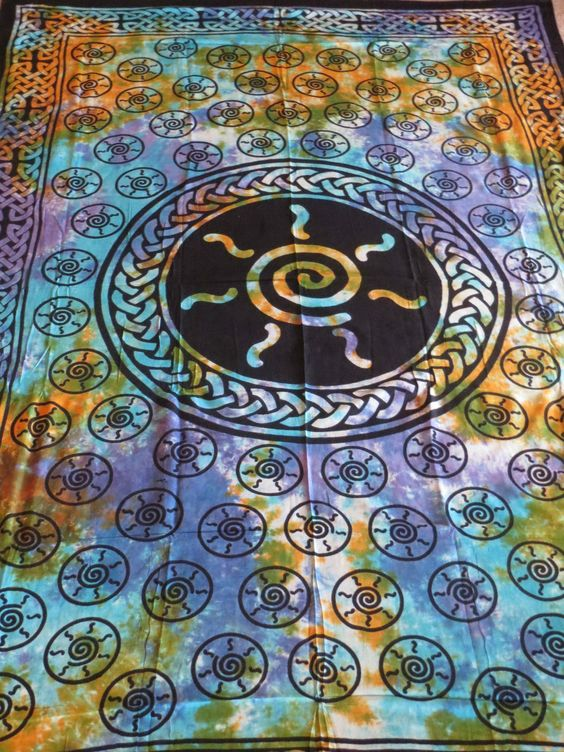 Celtic Spiral Sun Goddess Tie Dye Hippie Hippy Pagan Wicca Wiccan Altar  Cloth Tapestry Boho Bohemian. Pinterest   The world s catalog of ideas