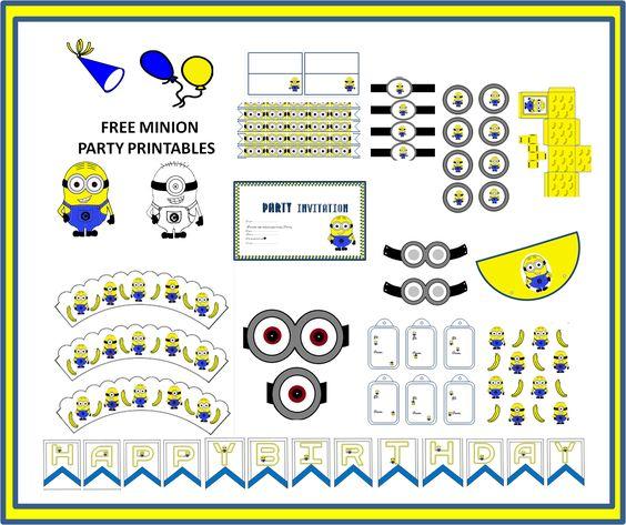 minion mask template - free minion party printables craft ideas pinterest