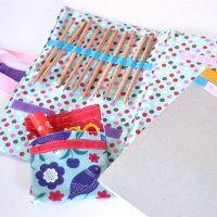 diy malmappe nähen anleitung nähanleitung freebook kostenlos für kinder geschenk mappe stifte und block unterwegs geschenkidee