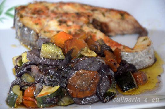 A Culinária e Eu ...: Corvina assada no forno com batata violeta