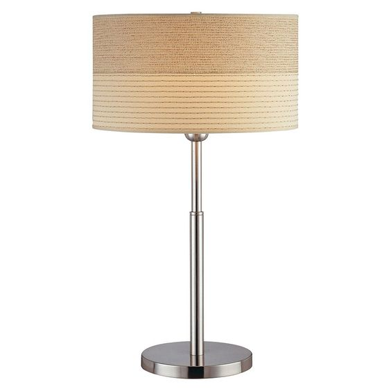 Lite Source Relaxar 1 Light Table Lamp - Polished Steel, Silver, Black