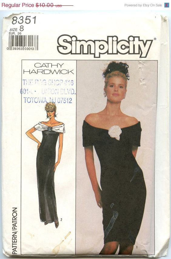 ON SALE 1980s Vintage Dress Pattern Simplicity by GreyDogVintage, $8.00
