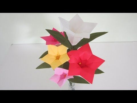 2 Tutorial Paper Flowers Variation 2 Youtube Paper Flower Tutorial Paper Flowers Book Origami