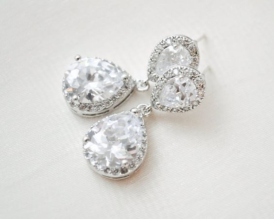 Tränenblech Braut Ohrringe Hochzeit Ohrringe von SarahWalshBridal