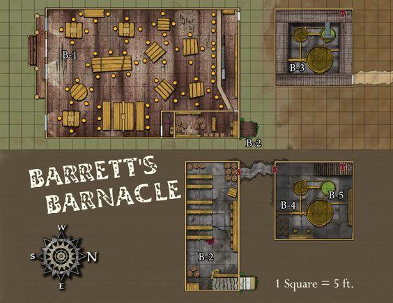 Map for Razor Coast and a crazy tavern.