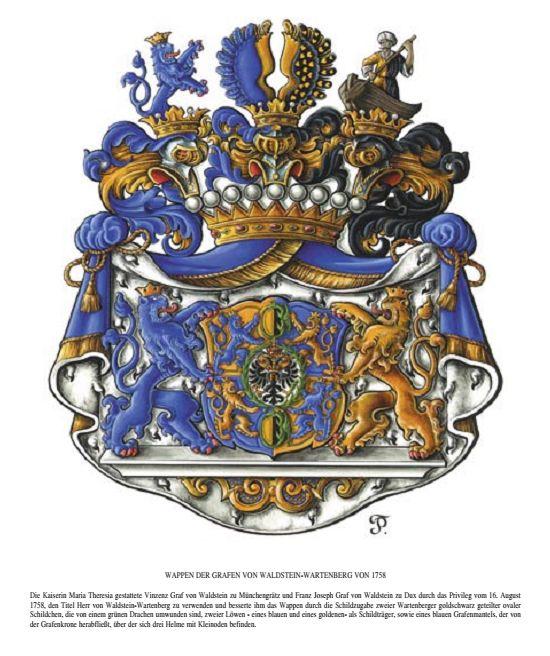 WALDSTEIN-WARTENBERG_Grafen von / Comtes de / Famille von Waldstein-Wartenberg.