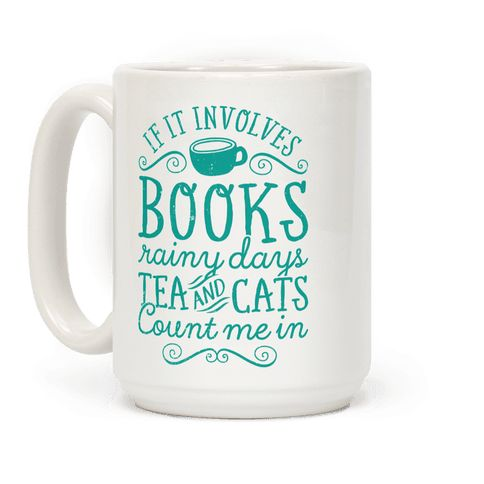 Books, Rainy Days, Tea, and Cats Mug