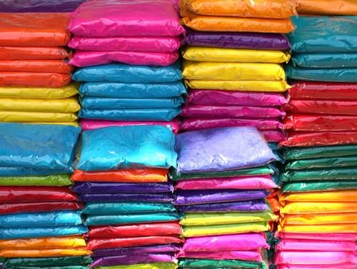Stock Holi Colors in Amsterdam