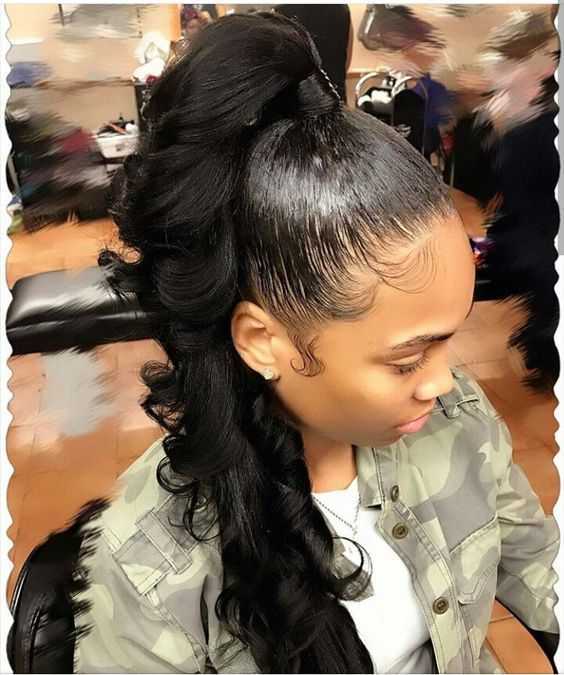 20 Ponytail Hairstyles For Black Women Eve Steps Slay Hair Black Ponytail Hairstyles High Ponytail Hairstyles Hair Styles