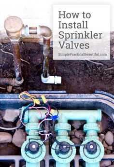 How to DIY installing valves for a sprinkler system and gardening irrigation