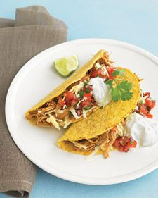 Slow-Cooker Chili Chicken Tacos (Martha Stewart)