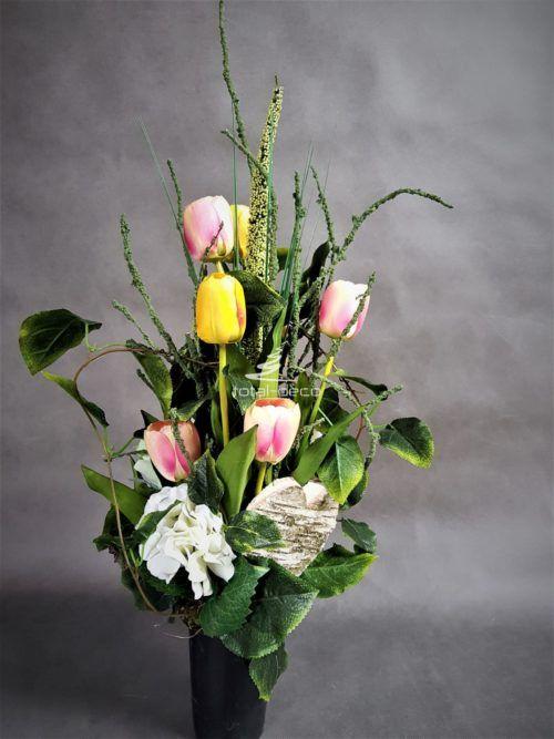 Bukiet Nagrobny Kwiaty Do Wazonu Na Cmentarz Deco Vase Glass Vase