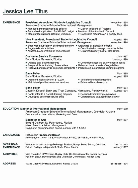 Example Resume For Psychology Graduate Unique Sample Resume For