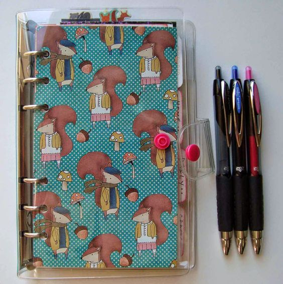 Personal size planner, punctuate planner, stamping, washi, pocket cards: