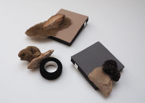 42 HATARA - Annea Lounatvuori, Under The Pine Pine, brooch, natural found objects, packaging waste, foam, rubber, silver: