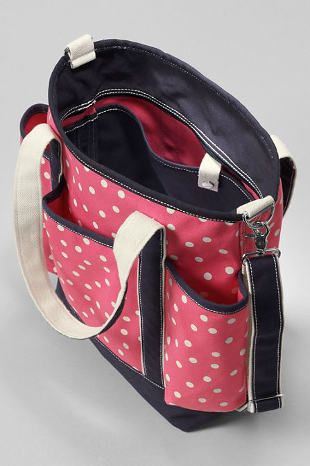print canvas diaper bag with changing pad from lands 39 end get your gran. Black Bedroom Furniture Sets. Home Design Ideas