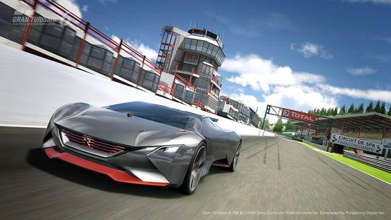 awesome Imágenes oficiales del nuevo Peugeot Vision Gran Turismo concept