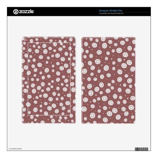 Mauve Flowers Amazon Kindle Fire Skin