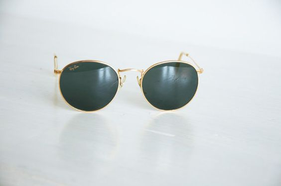 Original RayBan round sunglasses in original case by lapetitenina, €159.00