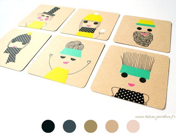 Rien de plus que des gommettes et masking tapes pour créer des petits personnages... Voici une idée d'activité à faire avec nos enfants ou alors créer des petites cartes d'invitations.