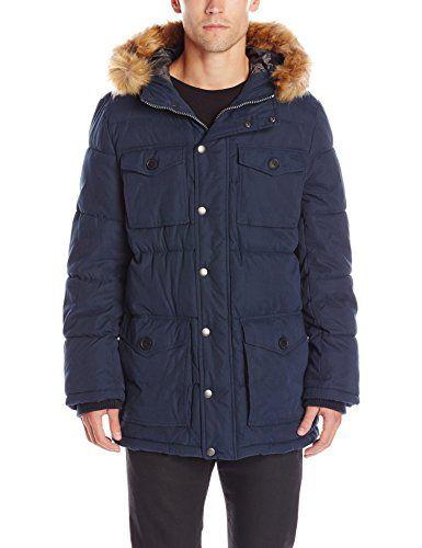 Tommy Hilfiger Men's Micro Twill Full-Length Hooded Parka Coat