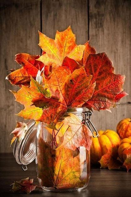 Cómo hacer centros de mesa de otoño, Más 15 fotos e ideas para decorar tu casa por poco dinero, puedes usar calabazas, naranjas, piñas, nueces, hojas secas: