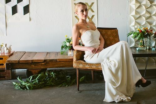 Modern Geometric LA Inspired Shoot with Little Cat Design Co., Scott Michael Photo, Found Vintage Rentals,   Primary Petals