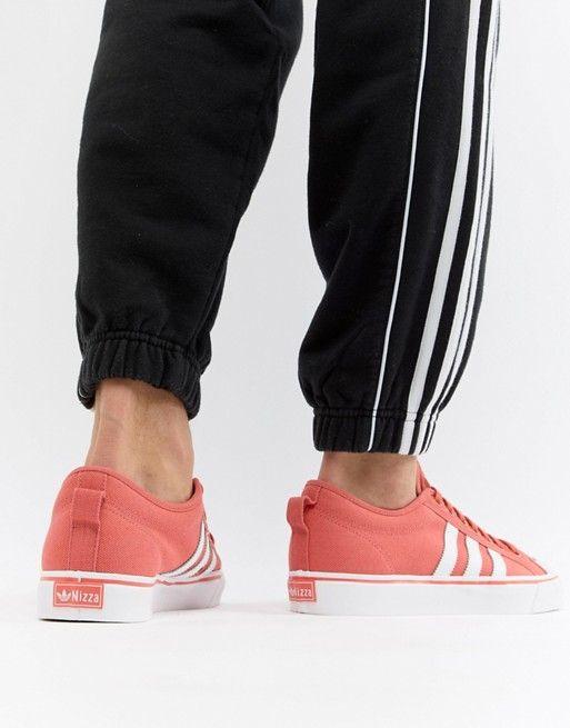 adidas Originals Nizza Trainers In Orange CQ2331 | Adidas