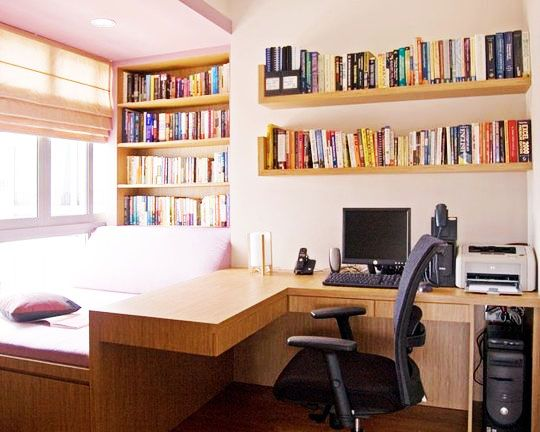 Home Office Ideas Contemporary, Simple Layout & Colors