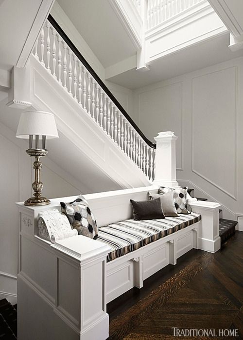 1890s row house renovation by architect Kevin Toukoumidis and designer Michael Abrams. Werner Straube photo in Traditional Home.