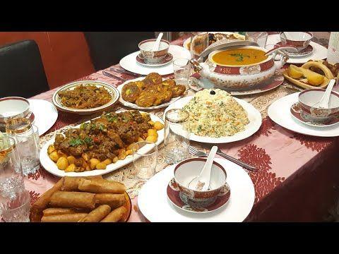 روتيني رمضاني من صباح حتى الإفطار طاولة الثالثة حريرة سريعة بخضر Menu Ramadan Youtube Menu Desserts Ramadan