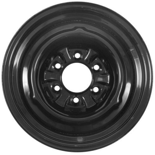 Dexstar Conventional Steel Wheel 16 X 6 Rim 6 On 5 1 2 Black Powder Coat Dexstar Trailer Tir Steel Wheels Wheel Steel Rims