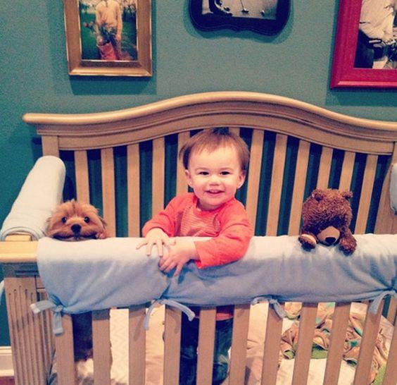 foto-bebe-y-perro-cuna:
