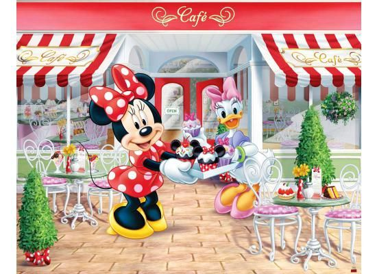 fototapete kinderzimmer disney minnie mouse walltastic™ minnie