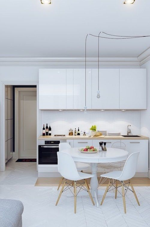 Amenager 20m2 10 Astuces Indispensables Clemaroundthecorner Cuisine De Petit Appartement Cuisines Dans Salon Cuisine Studio