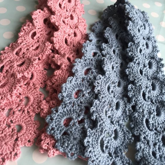 Queen Anne's lace scarfs