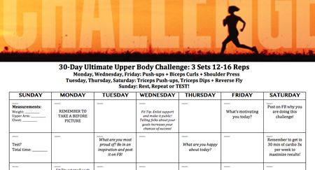 Ultimate Upper-Body 30-Day Challenge | Page 2 | Active.com